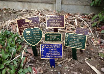 Coloured marker plaques