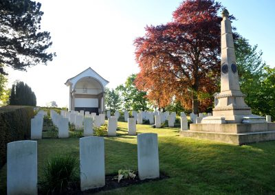War memorials at Ipswich Cemetery.